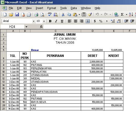 cara membuat laporan stock barang dengan exce